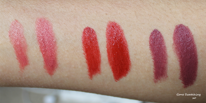 Left to Right: Hazelnut Cream, African Nights and Deeply in Mauve