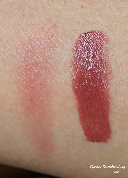 RMS Beauty Lip2Cheek Illusive - Light and heavy swatch