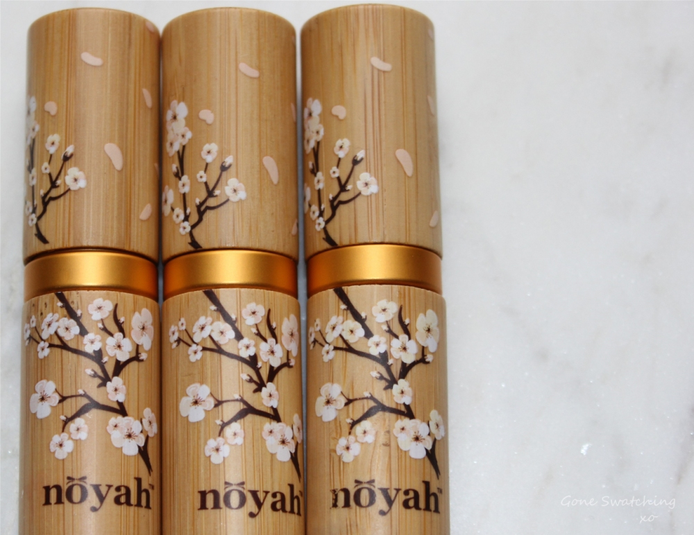 Noyah-Lipstick-Review-and-Swatches.-African-Nights,-Deeply-in-Mauve-and-Hazelnut-Cream-packaging