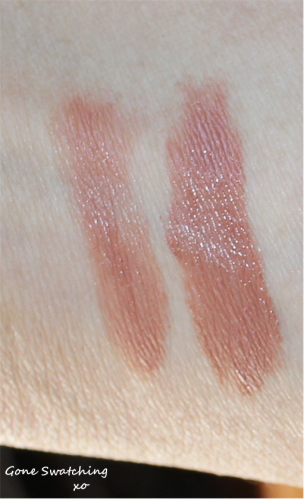 Left to Right - Light and heavy swatch of Rustic Mocha