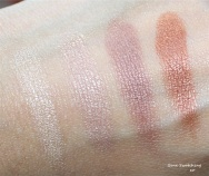 Finger swatches of Spicy Splash