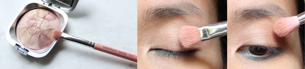 Turquoise Eyeliner and Coral Lips - Featuring Ilia Beauty Lipstick In Paradise