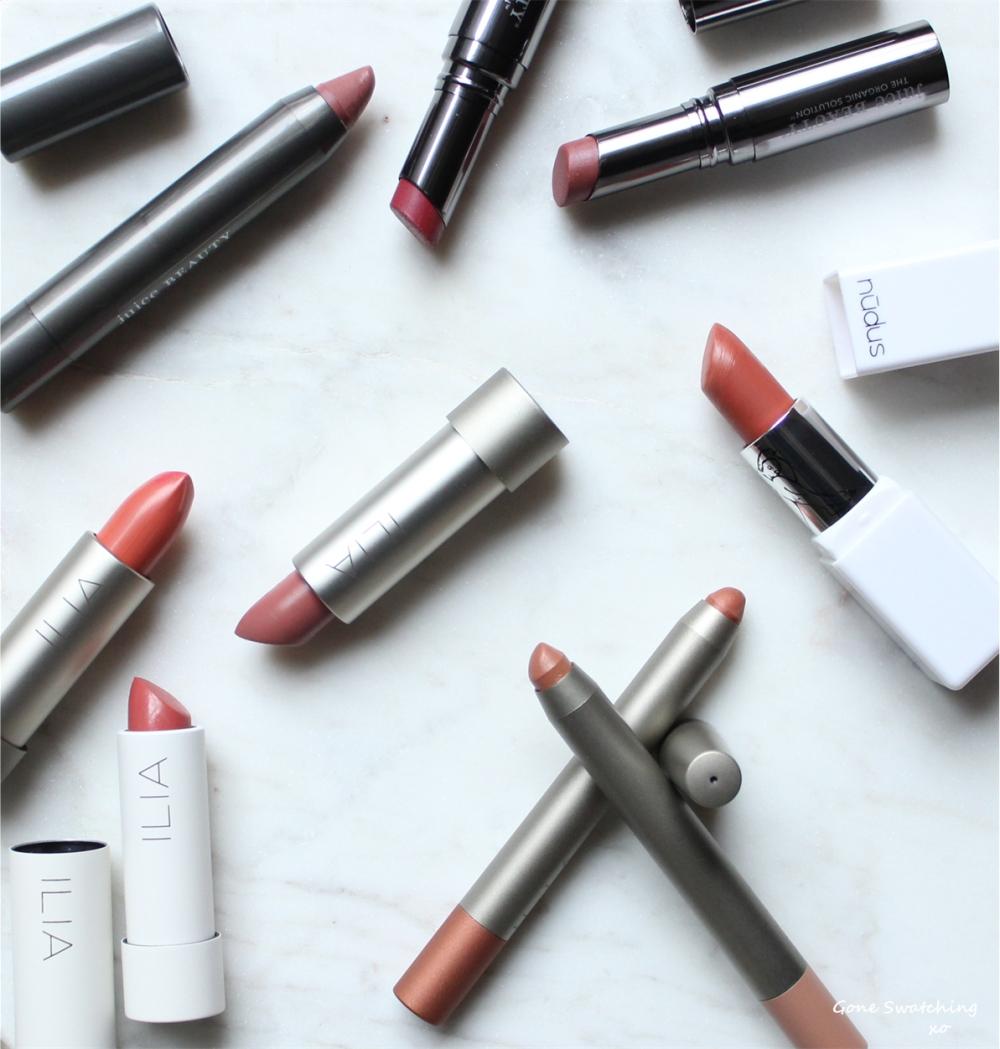 October & November Favourites. Natural & Organic Lipsticks. Gone Swatching xo