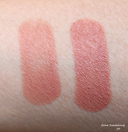 Kjaer Weis Lipstick Review and Swatches - Brilliant and KW Red (Lipstick à Deux Gift Set), Love and Empower. Gone Swatching xo
