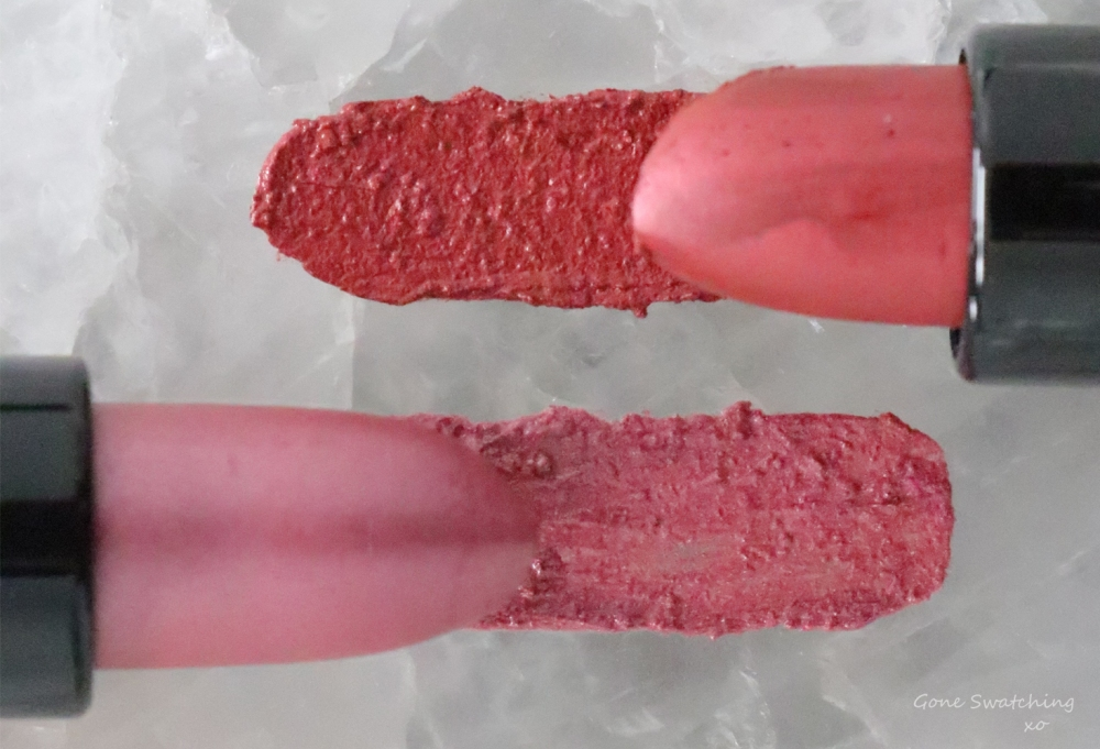Inika-Organic-and-Vegan-Lipstick-review-and-swatches.-Auburn-Ambition-and-Flushed.-Gone-Swatching-xo