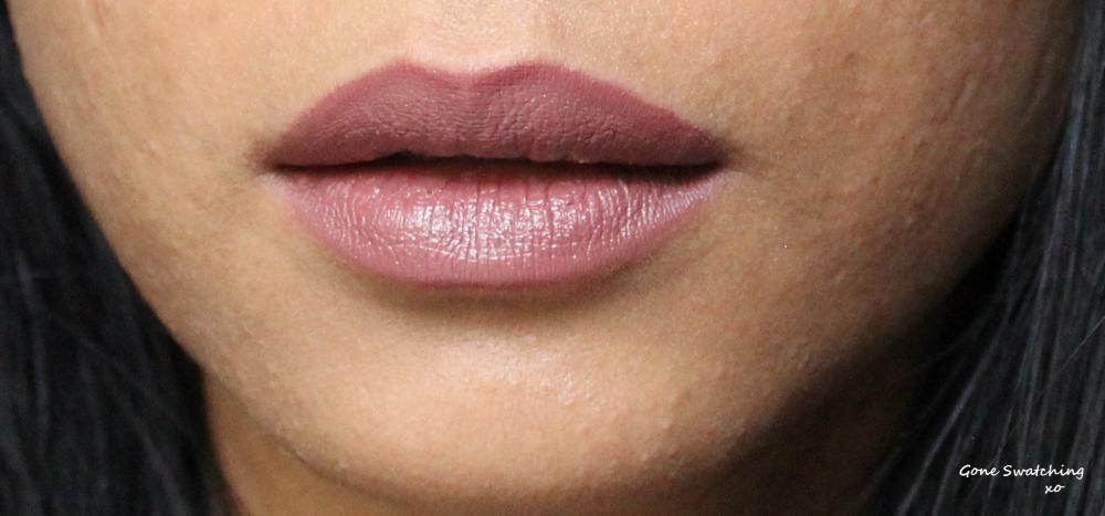 Au Naturale Cosmetics Su/Stain Matte Lip Stain Swatches - Marsala. Gone Swatching xo