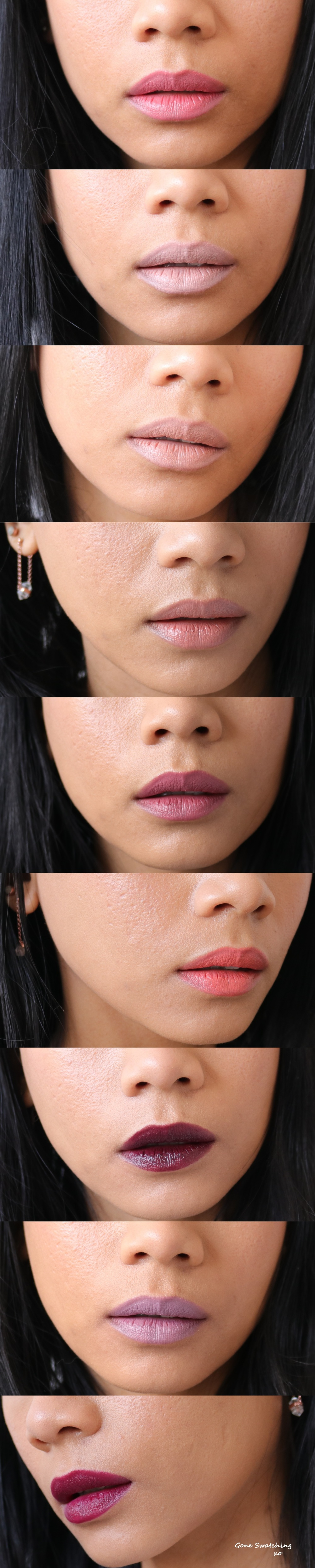 Almost the Entire Range of Nui Cosmetics Natural Lipstick Swatches - Gone Swatching xo
