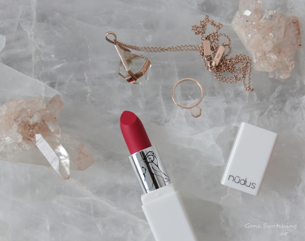 Nudus Lipstick Review and Swatches - Amalia, Dreamtime and Ruby Rose. Gone Swatching xo