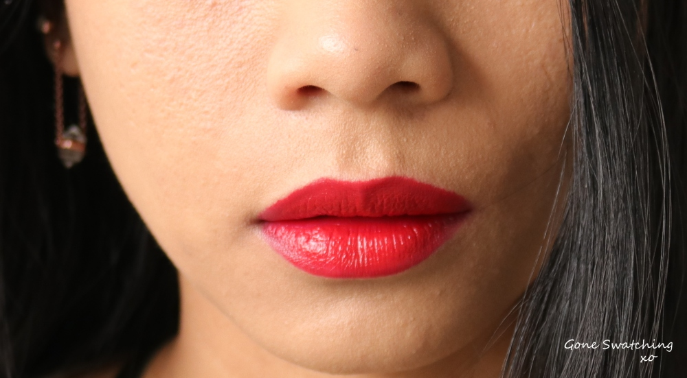 Clove+Hallow Lipstick swatches on Asian Skin. Flaming Coral. Vegan, all natural and non-toxic lipstick honest review. Gone Swatching xo