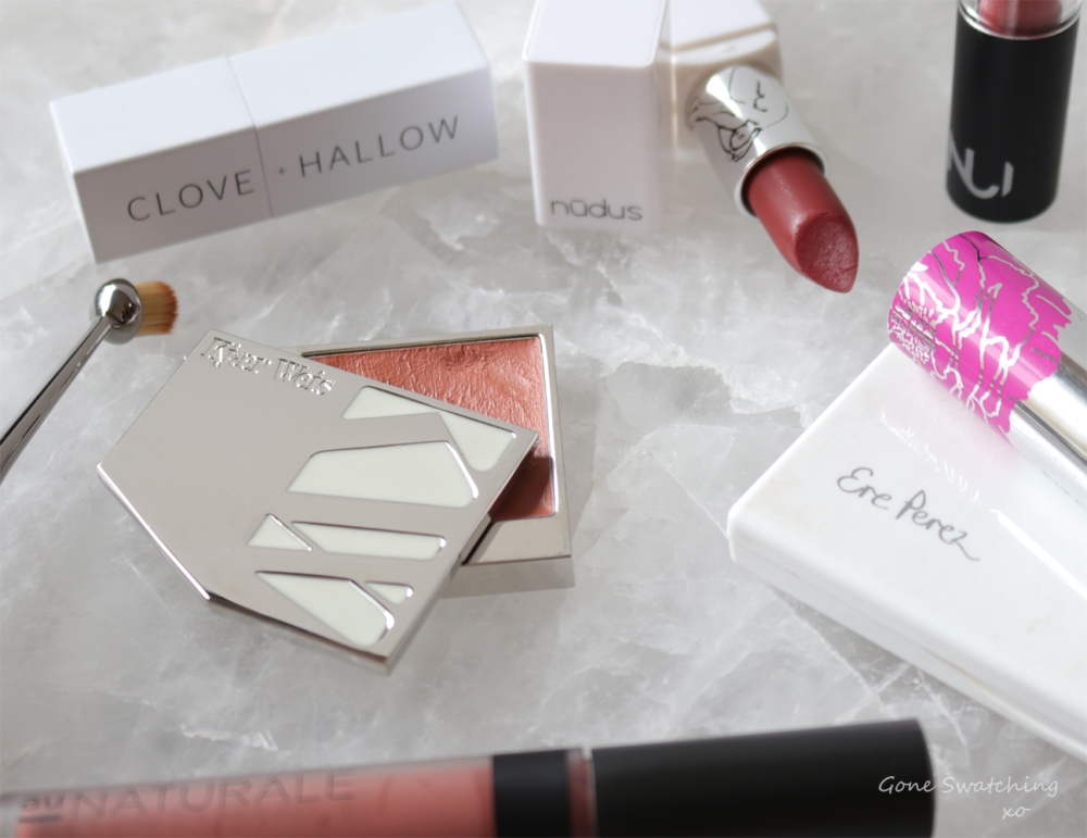 best-natural-makeup-of-2018.-clove2bhallow2c-kjaer-weis2c-nudus2c-nui-cosmetics2c-au-naturale2c-ere-perez2c-fitglow-and-artis.-gone-swatching-xo