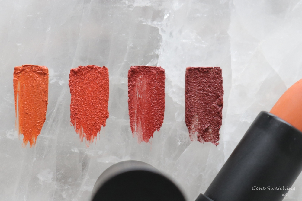 Beautifek Lipstick Review & Product Swatches. Amber, Ruby, Coral & Garnet. Gone Swatching xo