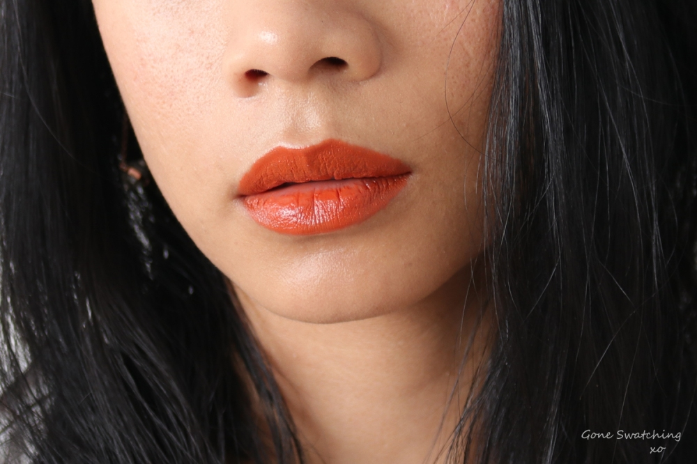 Beautifek Lipstick Swatches. Lip swatch Amber. Gone Swatching xo