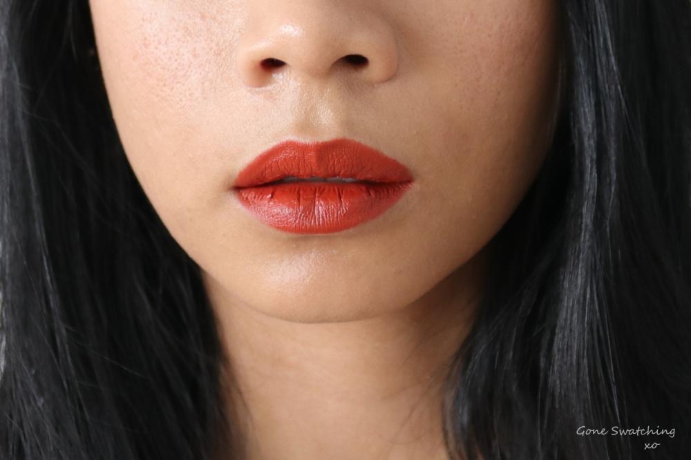 Beautifek Lipstick Swatches. Lip swatch Coral. Gone Swatching xo