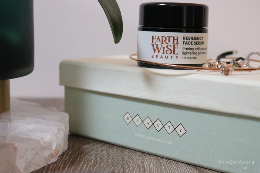 Earthwise Beauty Skincare Review. Resiliency Face Serum & Yasuni Face Balm. Green Beauty Blogger Gone Swatching xo