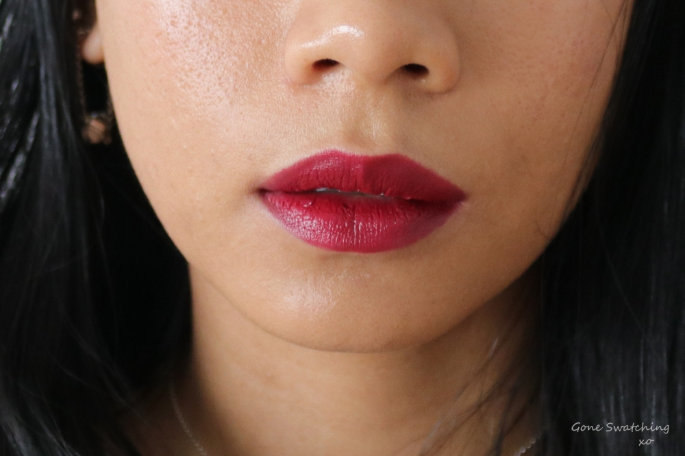 Ere Perez Olive Oil Vegan Lipstick Review and Swatches on Asian Skin. Soiree. Gone Swatching xo