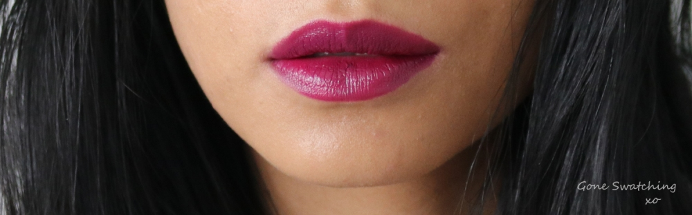 Ilia Beauty Colour Block High Impact Lipstick Review & Swatches. Ultra Violet. Gone Swatching xo