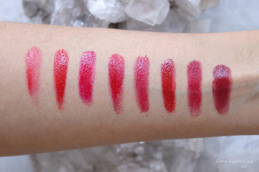Organic, Natural and Non toxic cruelty free red lipstick options. Arm swatch. Gone Swatching xo