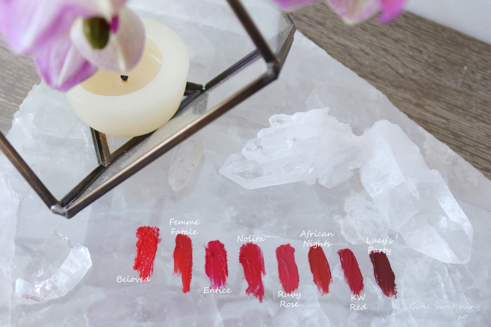Organic, Natural and Non toxic cruelty free red lipstick options. Gone Swatching xo