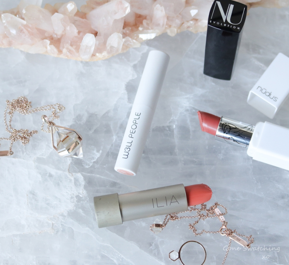The Best 9 Organic, Natural and non toxic coral lipsticks. Gone Swatching xo