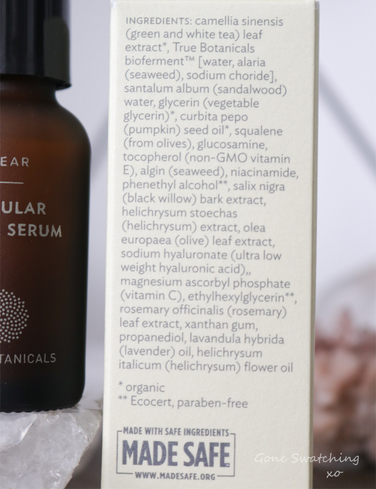 True Botanicals Clear Cellular Repair Serum Review and Ingredients. Gone Swatching xo