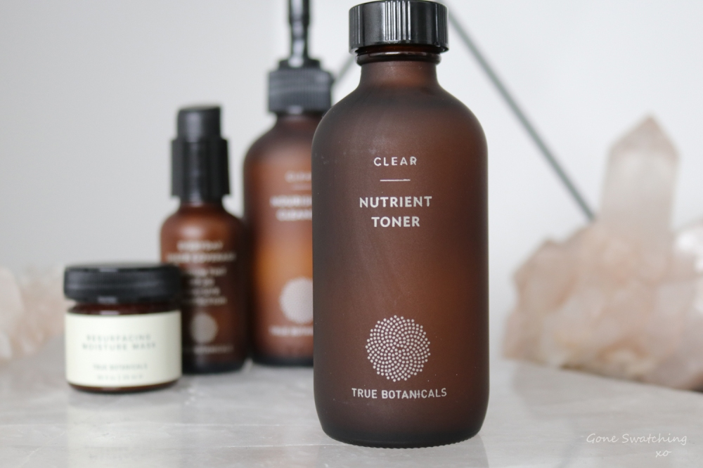 True Botanicals Nutrient Toner Review. Clear Collection. Gone Swatching xo