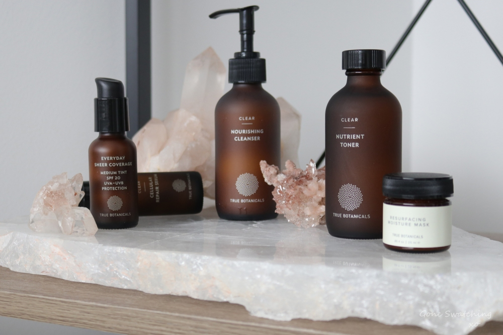 True Botanicals Skincare Review. The Clear Collection. Gone Swatching-xo