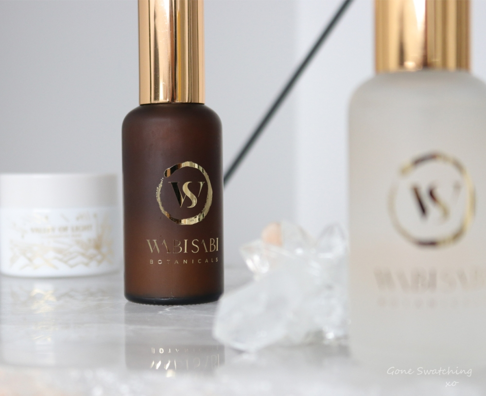 Wabi Sabi Botanicals Skincare Review. The Giver, Valley of Light and Still Waters. Natural, wild grown skincare. Gone Swatching xo