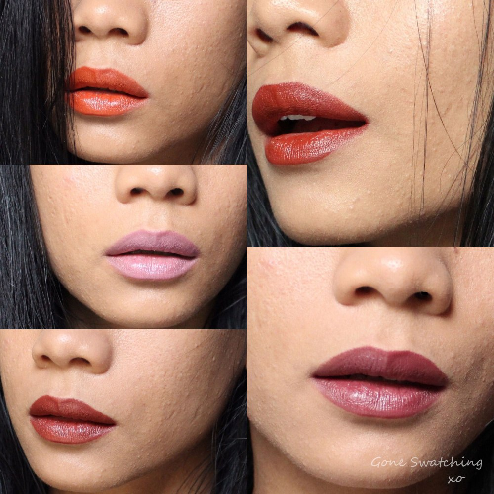 Au Naturale Lipstain Bold Collection swatches on Asian Skin. Gone Swatching xo