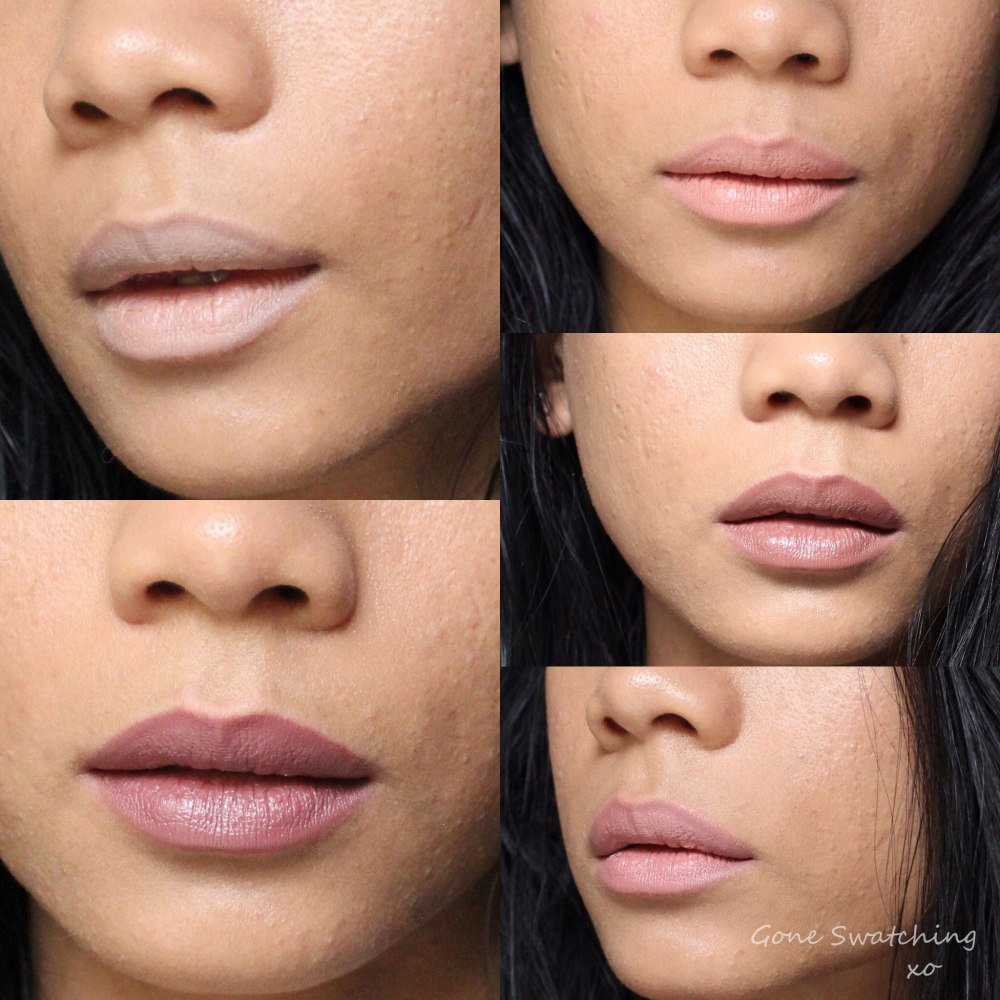 Au Naturale Lipstain Neutral Collection swatches on Asian Skin. Gone Swatching xo