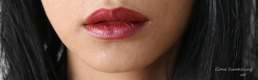 Elate Cosmetics Lipstick Review & Swatches. Warrior. By Green Beauty Blogger Gone Swatching xo