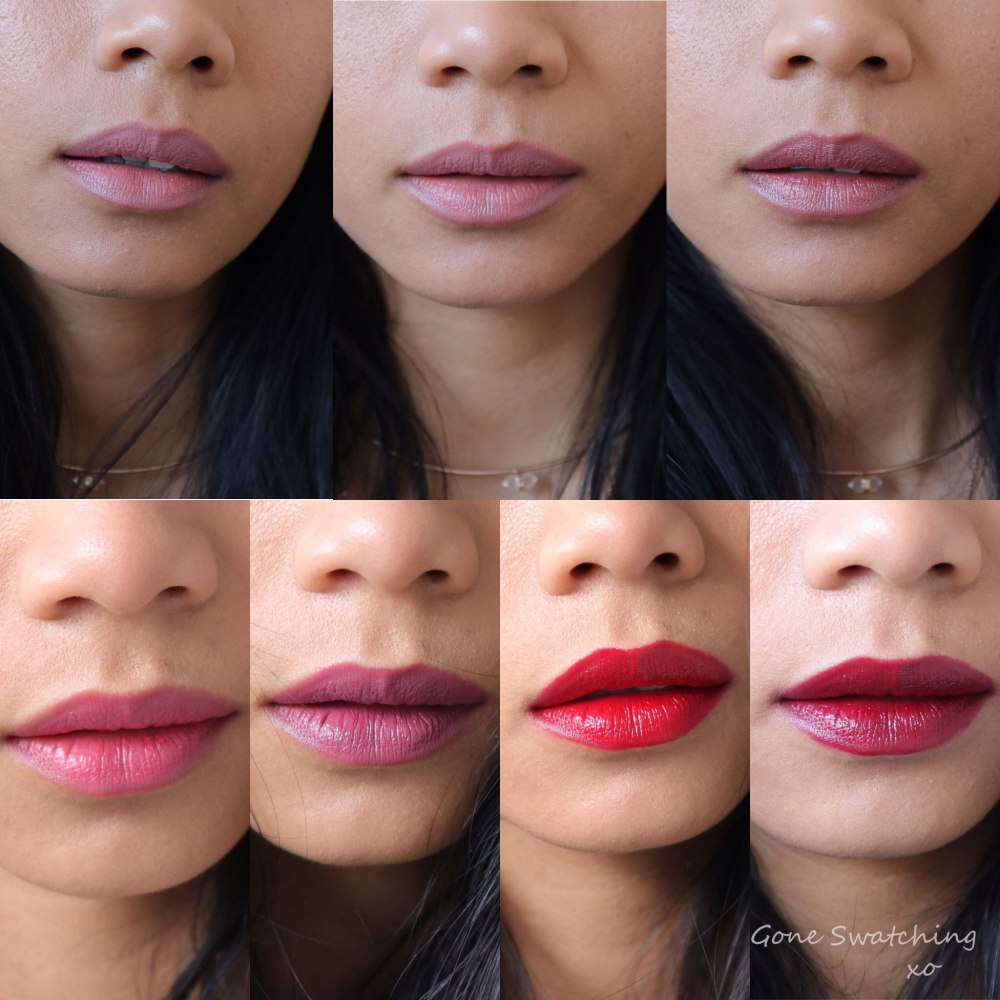 Fitglow Beauty Lip Colour Cream. Entire Collection swatched by Green Beauty Blogger Gone Swatching xo