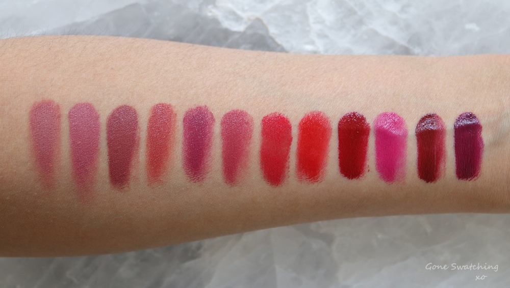 Ilia Beauty Colour Block High Impact Lipstick Review & Swatches by Green Beauty Blogger Gone Swatching xo. Entire Original Collection