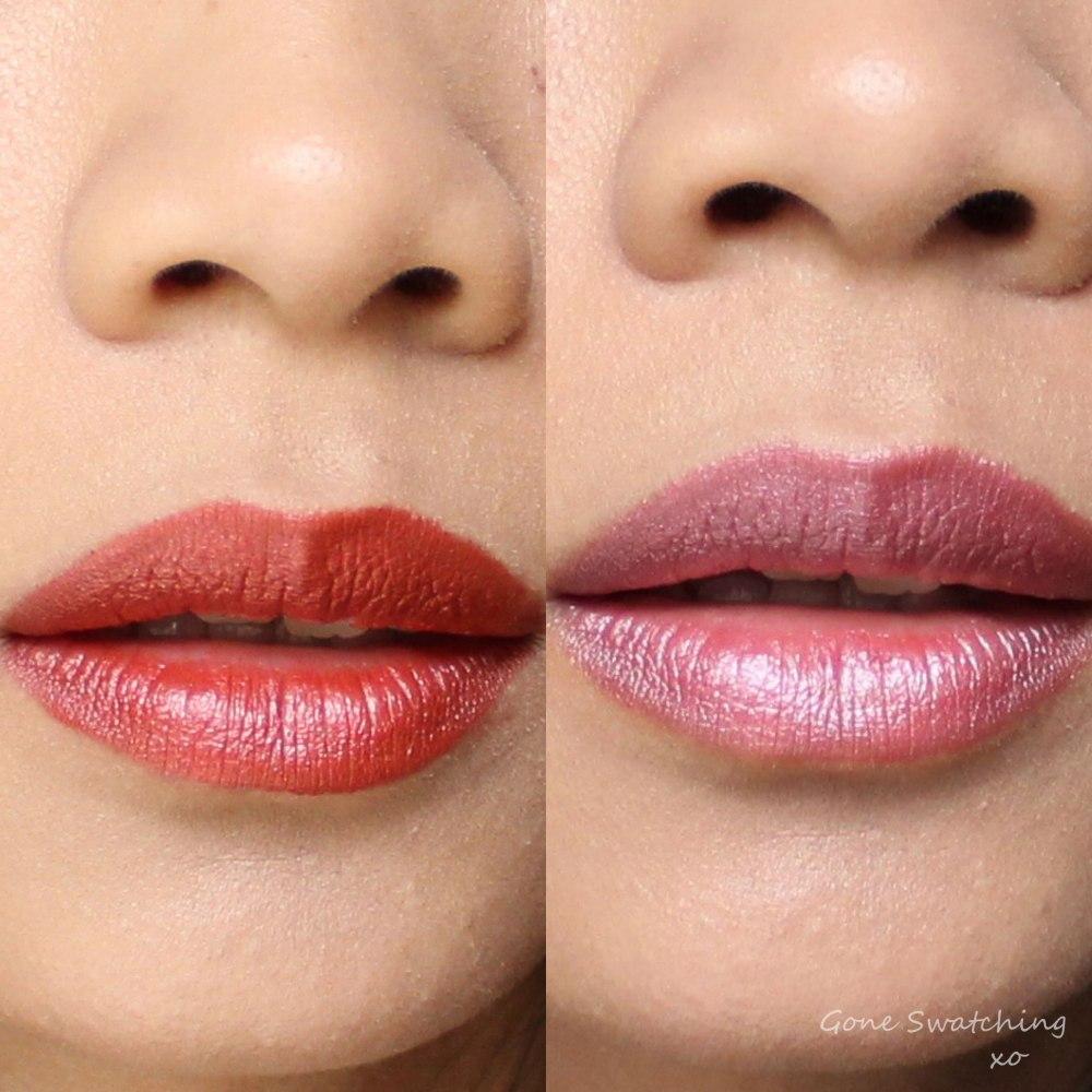 Inika Lipstick Review & Swatches. Flushed & Auburn Ambition. Gone Swatching xo