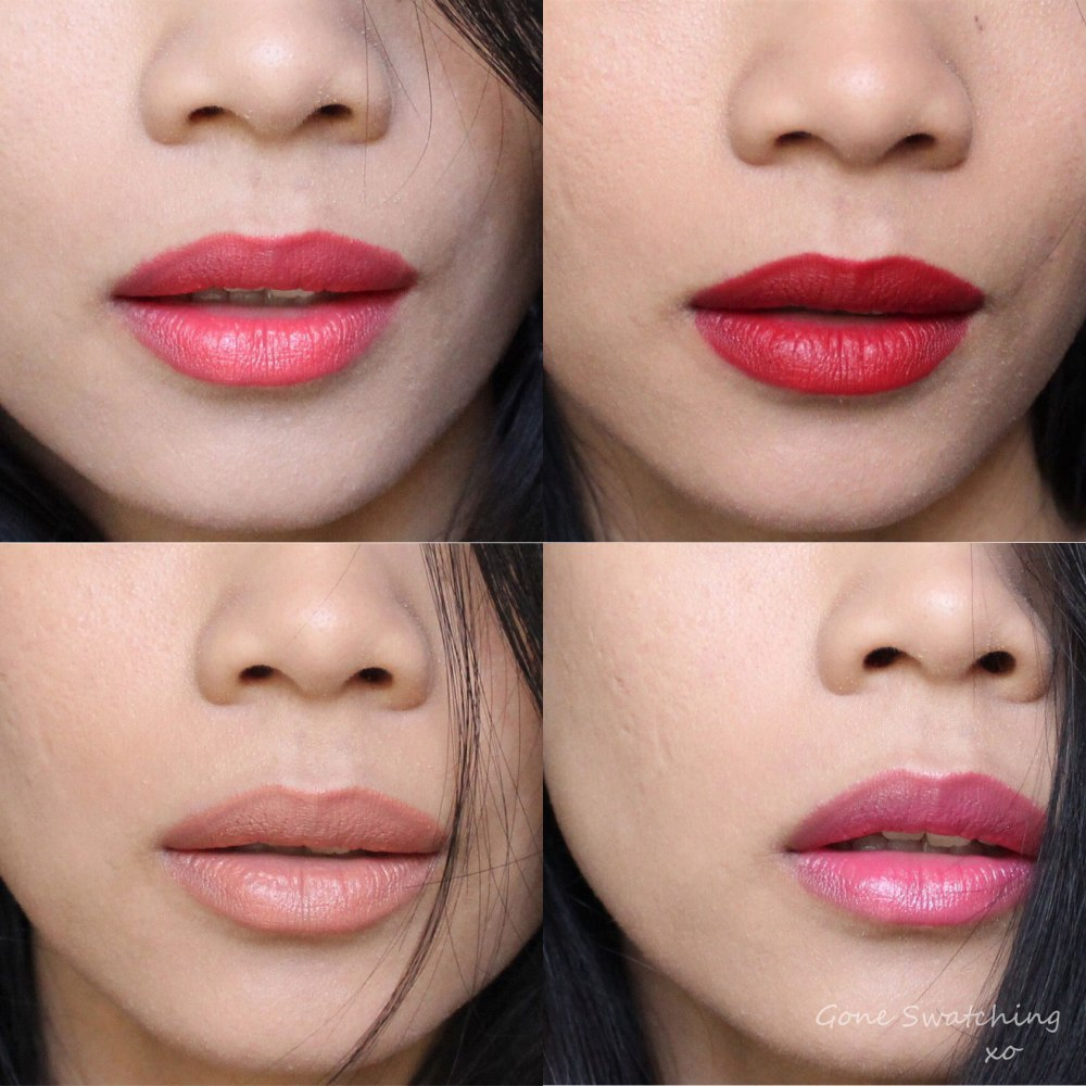 Kjaer Weis Luxury Lipstick Review & Swatches by Green Beauty Blogger Gone Swatching. Love, Empower, Brilliant & KW Red