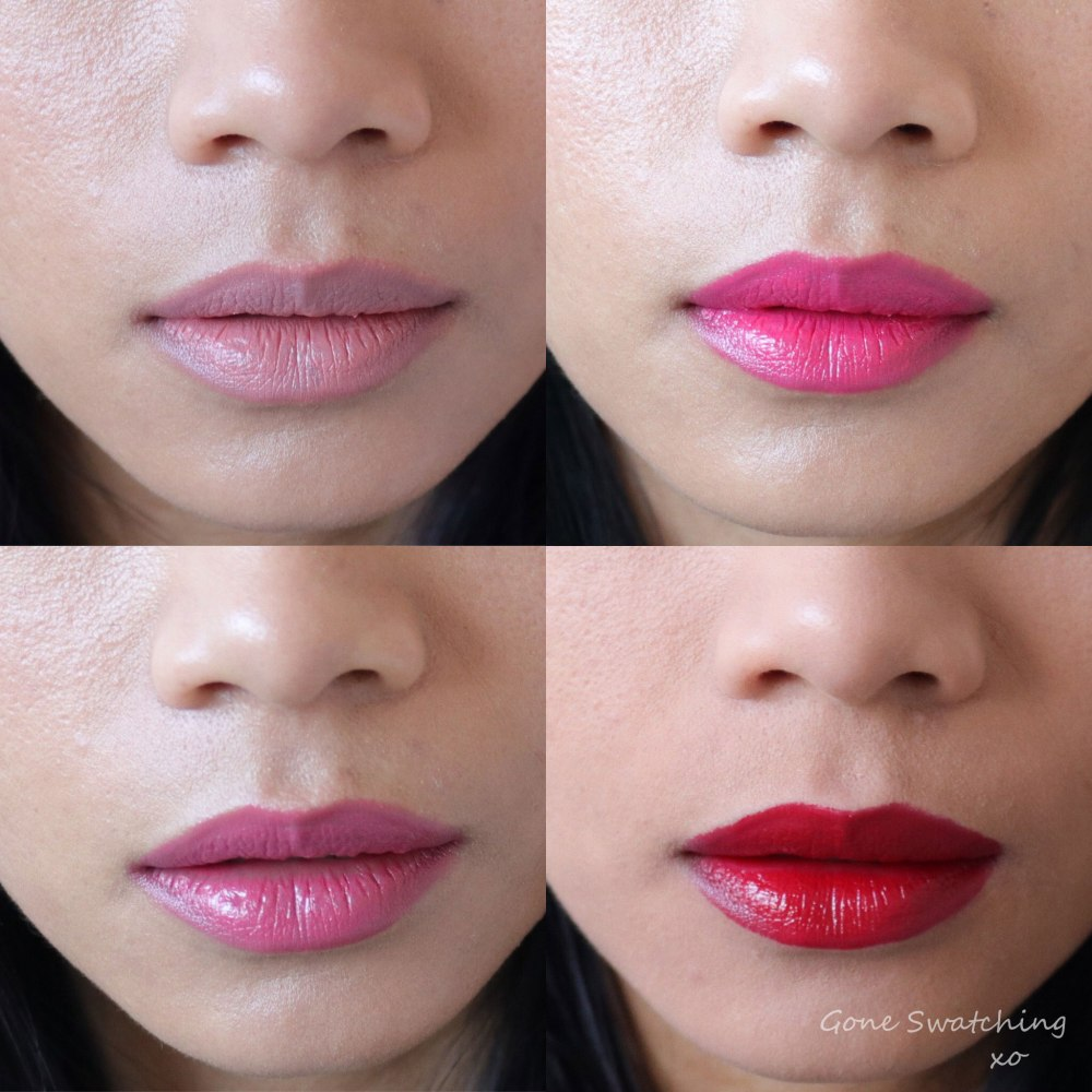 Nu Evolution Lipstick swatches Entire Collection. Gone Swatching xo