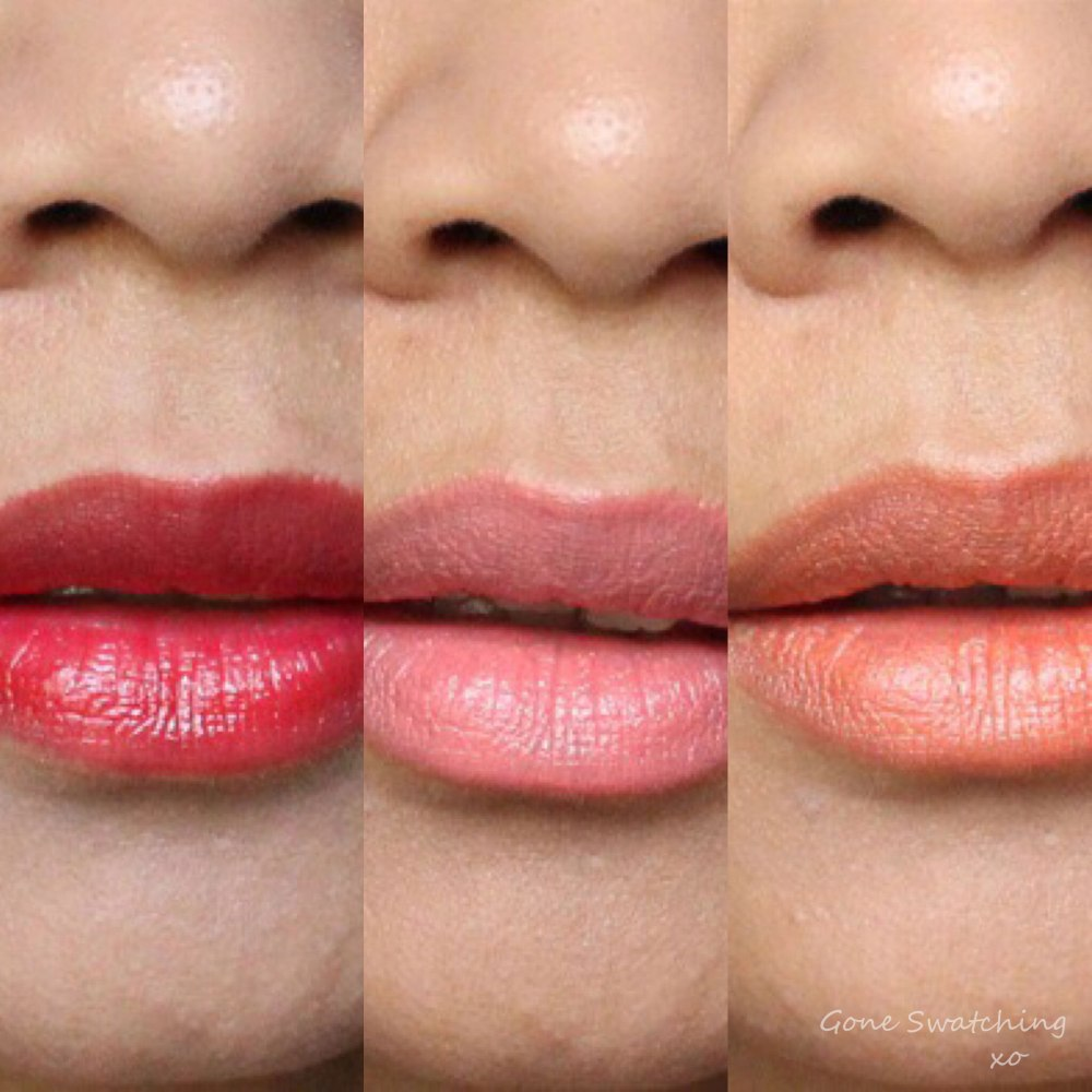 RMS Beauty Lip2Cheek swatches. Beloved, Curious & Smile. Gone Swatching xo