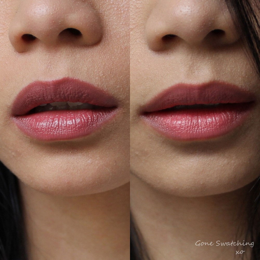 RMS Beauty Lip2Cheek swatches. Modest & Illusive. Gone Swatching xo
