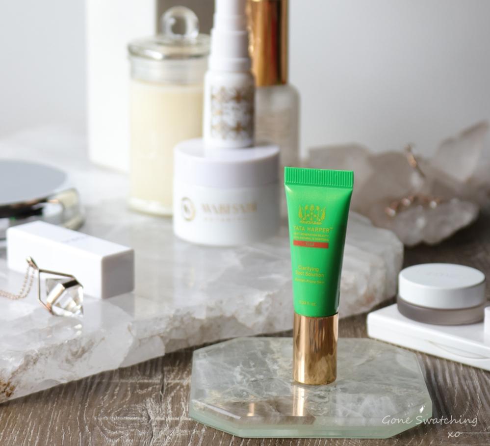 Tata Harper Organic Clarifying Spot Solution Review. Green Beauty Blogger Gone Swatching xo