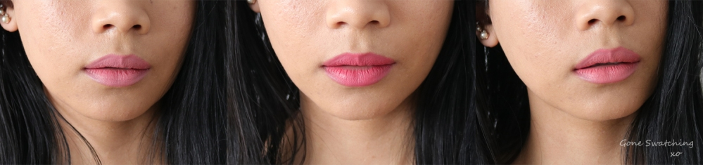 RMS Beauty Wild with Desire Lipstick Review & Swatches. Unbridled Passion, Pretty Vacant & Vogue Rose. Gone Swatching xo