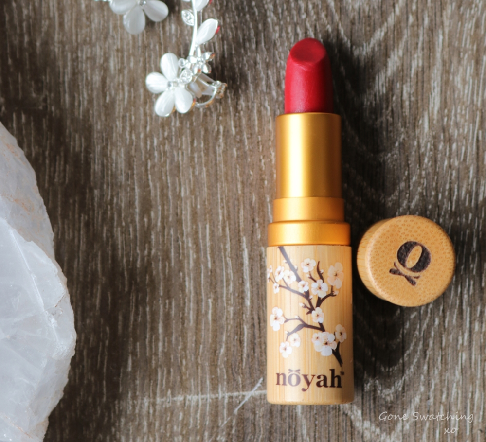 My 18 Favourite Organic & Natural Lipstick Colours of 2019. Noyah Natural Lipstick in Empire Red. Gone Swatching xo