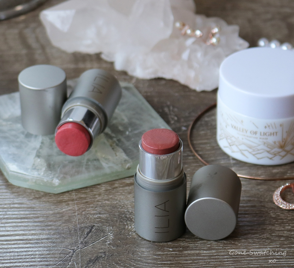 My Favourite Natural, Organic Skincare & Makeup of 2019. Featuring Ilia Beauty Multi-Stick Cream Blush & Lip Colour. Gone Swatching xo