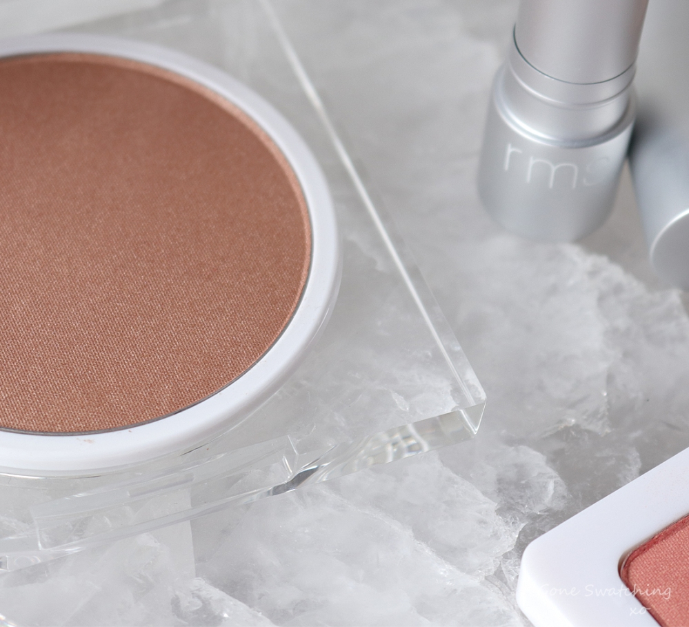 RMS Beauty Savannah Peach Collection Review. Luminizing Powder Scarlett Peach. Gone Swatching xo
