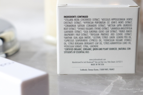 Josh Rosebrook Natural & Non-toxic Active Enzyme Exfoliator Review Ingredients List. Gone Swatching xo