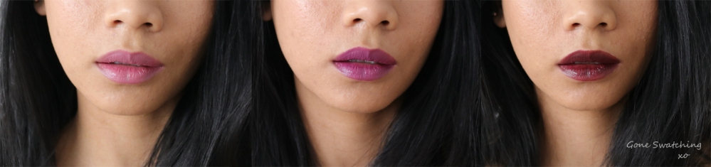Elate Cosmetics Lipstick Review & Swatches. Adore, Wild & Demure. By Green Beauty Blogger Gone Swatching xo
