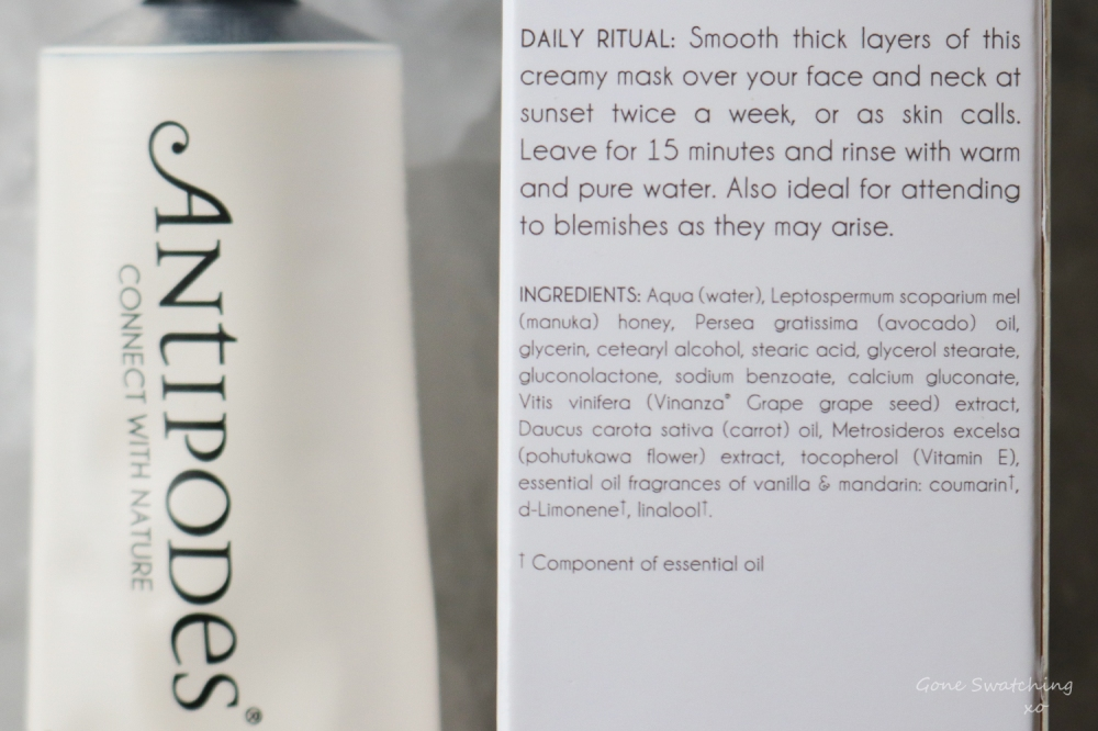 Antipodes Aura Natural Face Mask Review. Gone Swatching xo