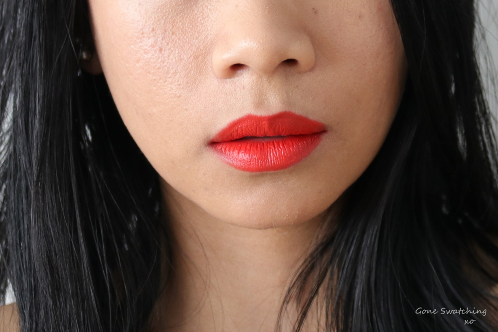 RMS Beauty Wild with Desire Lipstick Lip Swatch Firestarter. Gone Swatching xo