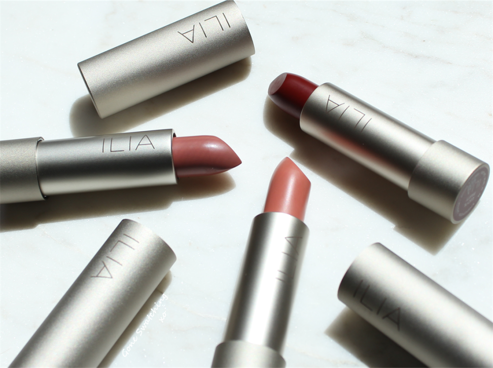 Ilia Beauty Lipstick Review & Swatches. Madam Mina, The Brides & Lucy's Party. Gone Swatching xo