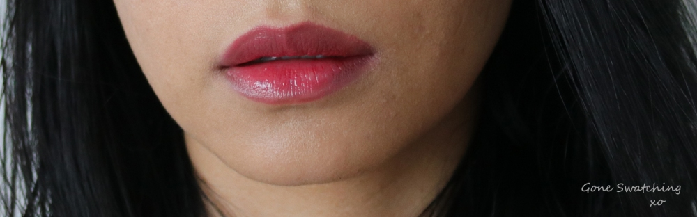Ilia Beauty Tinted Lip conditioner review & swatches. Bang Bang. Gone Swatching xo