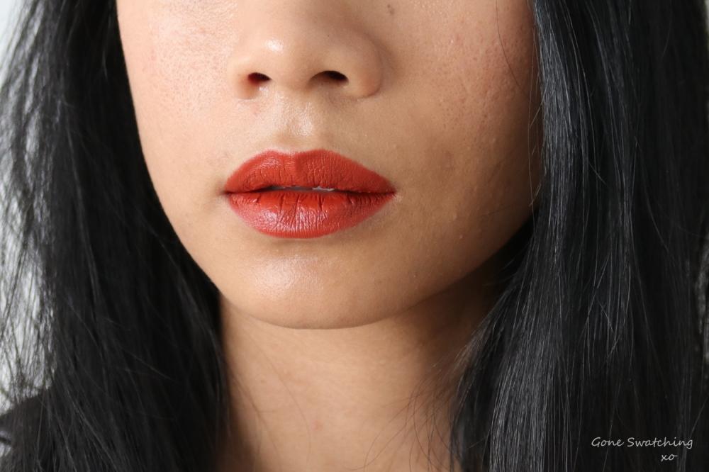 Beautifek Natural & Titanium Dioxide & Mica free Lipstick Lip Swatch Coral. Gone Swatching xo