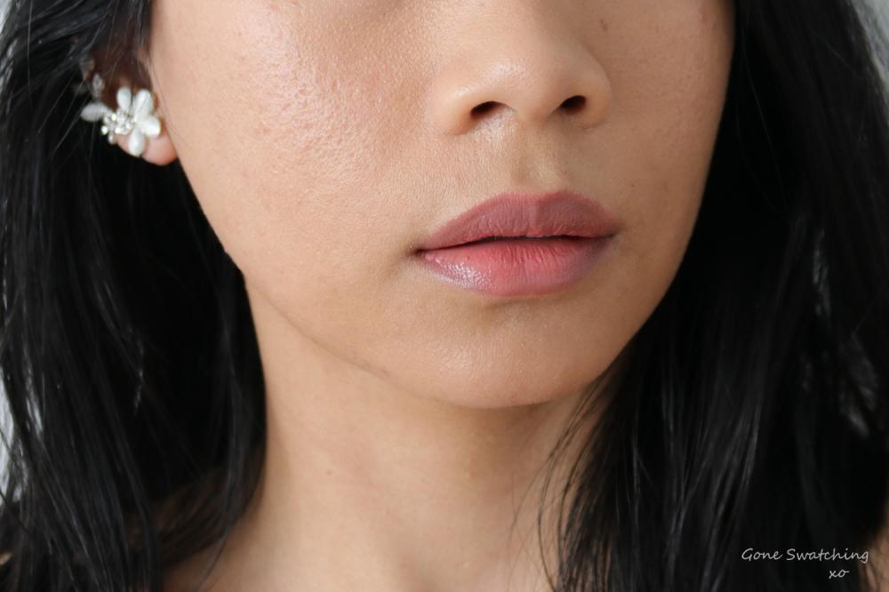 Ilia Tinted Lip Conditioner Lipstick Lip Swatch Nobody's Baby. Gone Swatching xo